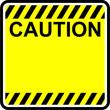 caution, yellow sign