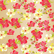 Beautiful seamless floral pattern with watercolor effect. Flower vector illustration - 200457176