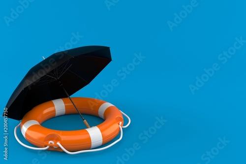 Umbrella with life buoy