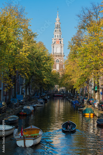 Fotobehang Amsterdam Amsterdam canal