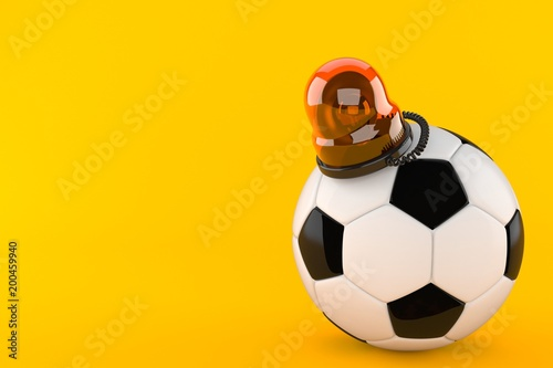 Soccer ball with emergency siren