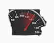 Iowa IA Speedometer Map Fast Speed Competition Race 3d Illustration
