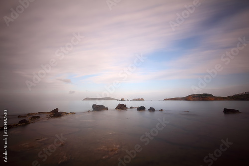 Fotobehang Zee zonsondergang A Small seaside town Turgutreis