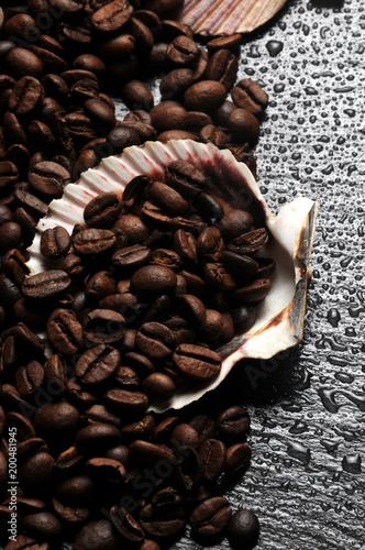 In de dag Koffiebonen Coffee