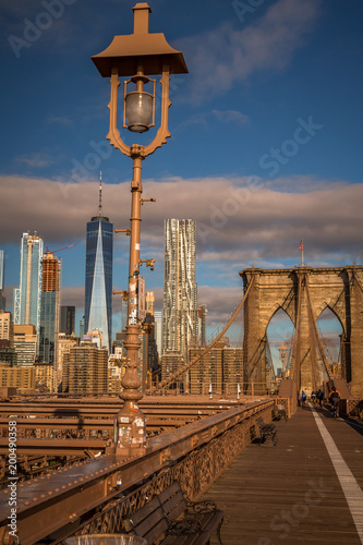 View from the Brooklyn Bridge at Sunrise