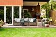 Garden furniture in the summer