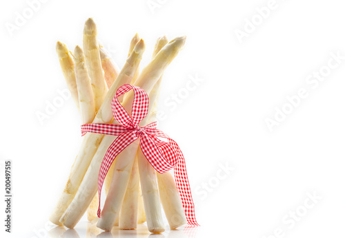 White asparagus, asparagus waist with Ribbon
