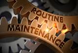 Routine Maintenance Concept. Golden Gears. 3D Illustration. - 200497701