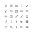 music outline icons 25