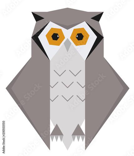Foto op Plexiglas Uilen cartoon Owl Geometric Polygon Design