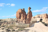 Cappadocia: Amazing natural volcanic rock formations in the landscape - the camel - Turkey