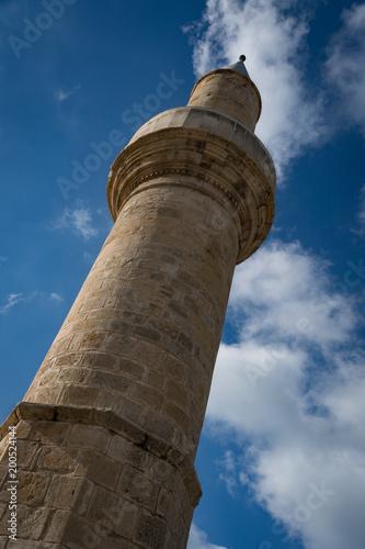 Fotobehang Cyprus Minaret on mosque in Episkopi, Cyprus