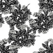 seamless monochrome pattern of flowers for greeting cards, background, price tags - 200546926