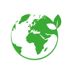 grüne erdkugel