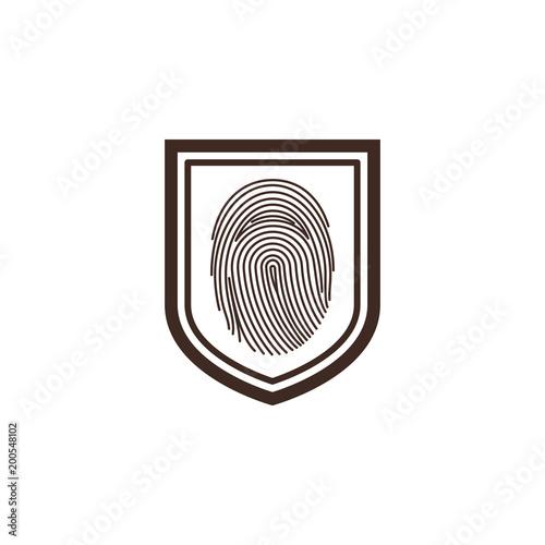 shield with fingerprint access