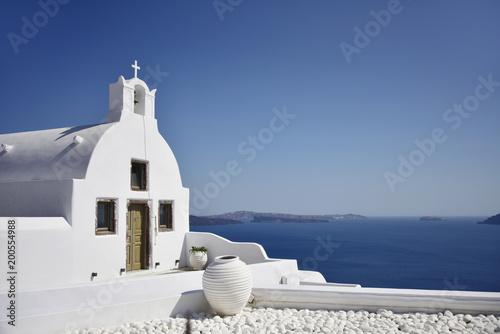 Tuinposter Santorini Santorini Greece Church