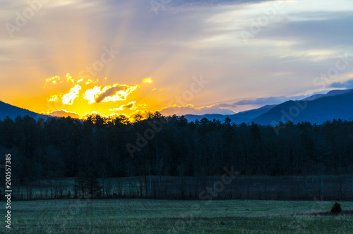 Sunrise in the Beautiful Smoky Mountains of Tennessee 2