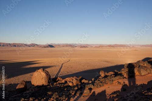 Strada nel deserto della Namibia