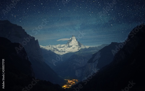 Foto op Plexiglas Zwart mountain