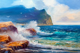 Seascape  painting .Sea wave. - 200575575