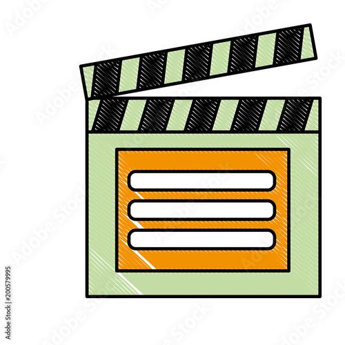 grzechotka zarządu odtwarzacz wideo akcja obrazu ilustracji wektorowych