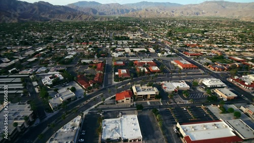 Helicopter Aerial View Palm Springs California