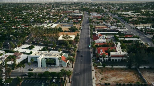 Wall mural Helicopter Aerial View Palm Springs California