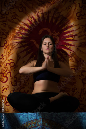 Foto op Aluminium School de yoga Girl doing yoga