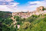 Sorano, a town built on a tuff rock, is one of the most beautiful villages in Italy. - 200589182