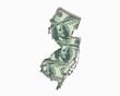 New Jersey NJ Money Map Cash Economy Dollars 3d Illustration
