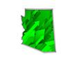 Arizona AZ Arrows Map Growth Increase On Rise 3d Illustration