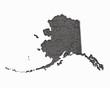 Alaska AK Road Map Pavement Construction Infrastructure 3d Illustration