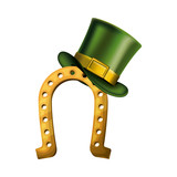 horseshoe with elf hat saint patrick