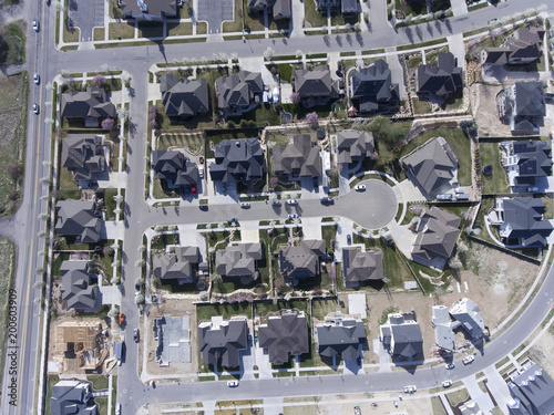 Wall mural aerial, homes, rooftops. community, subdivision