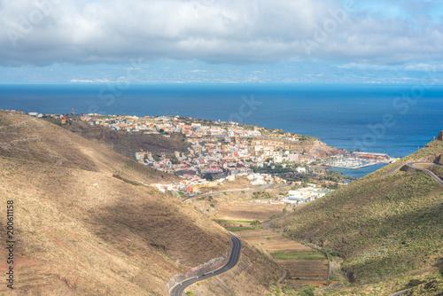 Fotobehang Canarische Eilanden The colorful houses of San Sebastian de La Gomera on the same island
