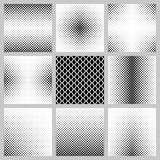 Black and white vertical rhombus pattern background set