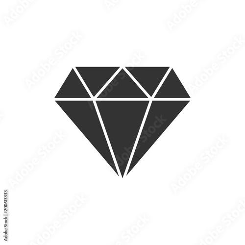 Klejnot diament klejnot wektor ikona w stylu płaski. Diamentowa gemstone ilustracja na białym odosobnionym tle. Biżuteria genialna koncepcja.