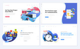 Set of creative website template designs. Vector illustration concepts for website and mobile website design and development. Easy to edit and customize. - 200614149