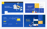 Set of creative website template designs. Vector illustration concepts for website and mobile website design and development. Easy to edit and customize. - 200614731