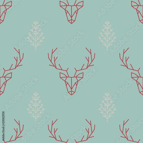 geometric-seamless-scandinavian-pattern-a-deer-and-a-christmas-tree-vector-illustration