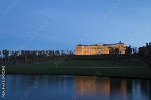 Nightshot of Frederiksberg castle in Copenhagen