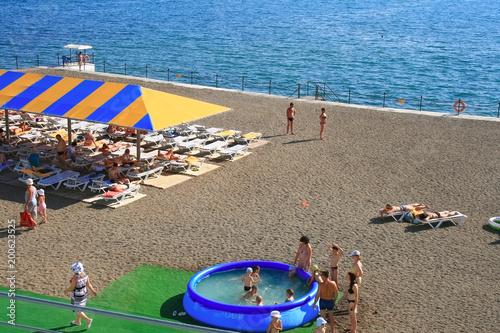 пляж на курорте