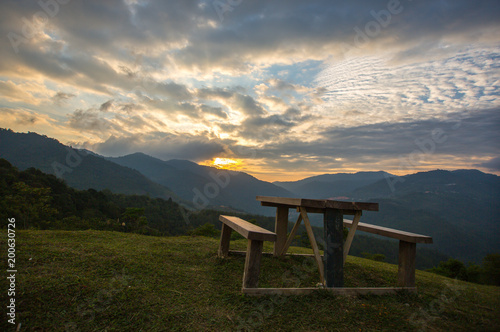 Fotobehang Zee zonsondergang a place to feel calm and relax with beautiful view of sunset