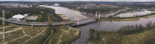 Fotobehang Panoramafoto s Odra river in Wrocław