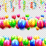 Seamless birthday borders - 200647375