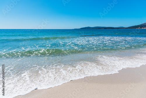 Foto Murales Crystal clear water in Maria Pia beach