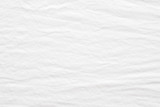 Wrinkled white cotton fabric textured background, Fashion pattern textile design concept background