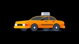 Yellow Taxi Rides. Transparent Background. - 200651181