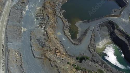 a drone shot of a quarry