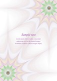 Abstract page border design brochure template background